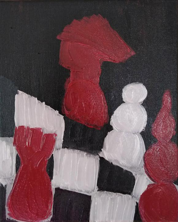 Incercarile vietii - tablou in ulei pe panza