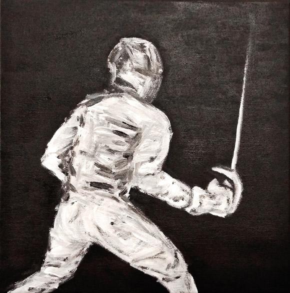 Knight - tablou acrilic