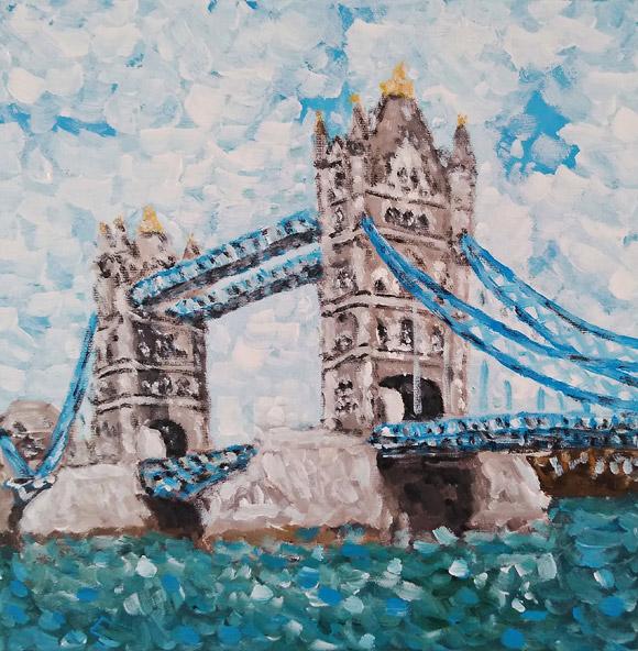 Tower Bridge - tablou pictat manual